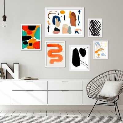 'Mid-Century' - 6 Piece Picture Frame Graphic Art Set - AllModern