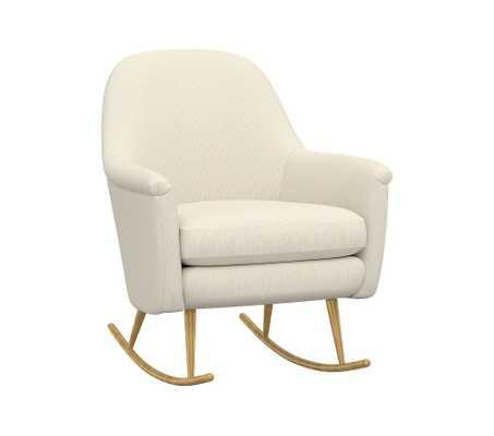 west elm x pbk Phoebe Rocking Chair, Classic Plain Weave, Pearl - Pottery Barn Kids