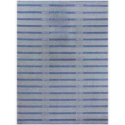 Sinclair Striped Blue Area Rug - Wayfair