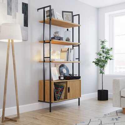 Ava-Lei 74.88'' H x 33.07'' W Metal Etagere Bookcase - Wayfair