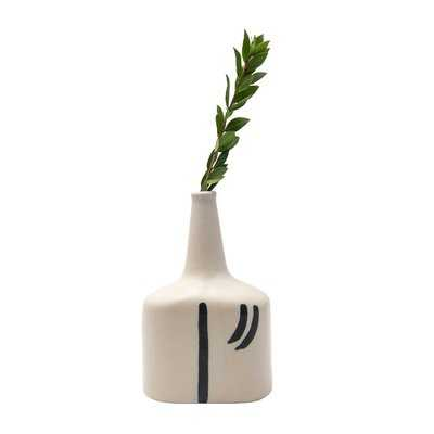 "Fineo Cream 8"" Indoor/Outdoor Ceramic Table Vase - Wayfair"