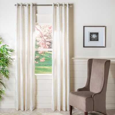 Safavieh Vivi Beige Semi-Sheer Window Panel 52 in. W x 96 in. L - Home Depot
