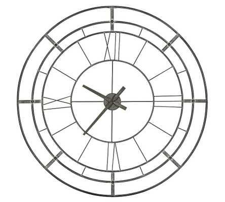 """Wyatt Oversized Wall Clock, 30"""" X 35"""" - Pottery Barn"""