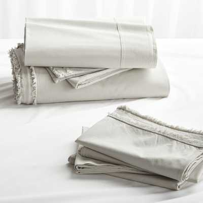 Washed Organic Cotton Grey Queen Bedding Set - Crate and Barrel