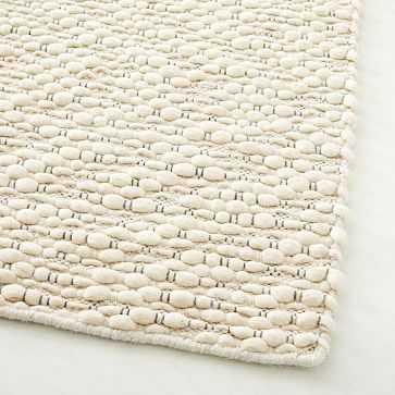 Slub Stripe Sweater Rug, Stone White, 8'x10' - West Elm