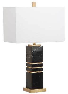Jaxton Marble 27.5-Inch H Table Lamp - Black/Gold - Arlo Home - Arlo Home