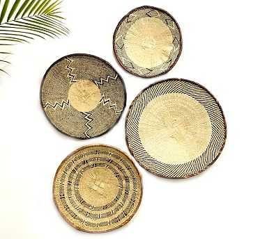 Woven Tonga Basket Wall Art, Set of 4 - Pottery Barn