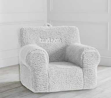 Gray Cozy Sherpa Anywhere Chair(R) - Pottery Barn Kids