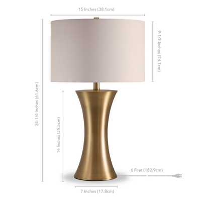 Hudson&Canal Quince 24-1/4 in. Antique Golden Brass Table Lamp - Home Depot