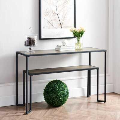 Console Table Coffee Table - Black & Brown - Wayfair