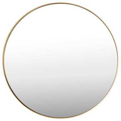 """27.5"""" Modern Metal Wall-Mounted Round Mirror - Wayfair"""