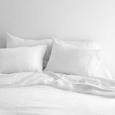 Stonewashed Linen Bed Bundle - White - King By The Citizenry - The Citizenry