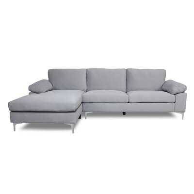 Edison Park 103.5'' Velvet Left Hand Facing Sofa and Chaise - Wayfair
