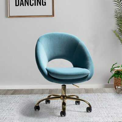 Lourdes Velvet Task Chair - Wayfair