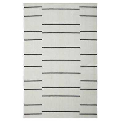 Aletta Linen White Area Rug - Wayfair