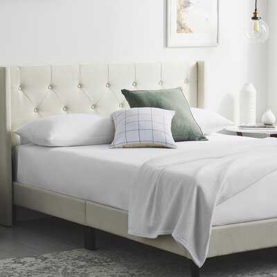 Petersen Solid Wood Tufted Low Profile Platform Bed - Wayfair