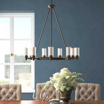 Maximo 9 - Light Shaded Wagon Wheel Chandelier - Wayfair