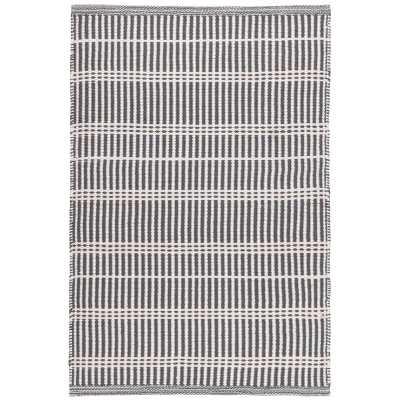 Dash and Albert Rugs Marlo Striped Handmade Flatweave GREY Indoor / Outdoor Area Rug Rug Size: 9x12 - Perigold