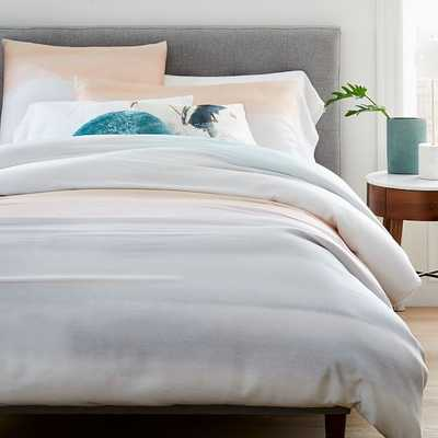 Tencel Sunrise Duvet & King Sham, Blue Tradewinds, King - West Elm