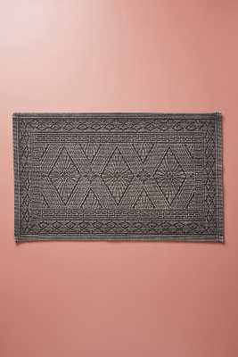 Misona Bath Mat By Anthropologie in Charcoal Size Small - Anthropologie