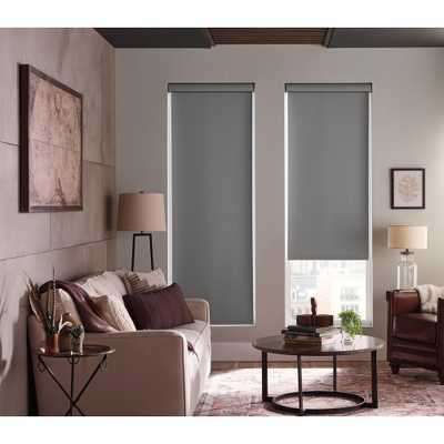 StyleWell Taupe Light Filtering Fabric Roller Shade - 37.25 in. W x 72 in. L, Brown - Home Depot