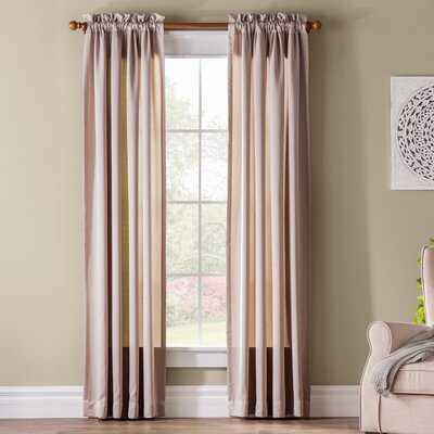 Solid Room Darkening Rod Pocket Single Curtain Panel - Birch Lane