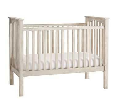 Kendall Convertible Crib & Lullaby Supreme Mattress Set Set, Weathered White, UPS - Pottery Barn Kids
