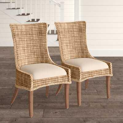 Anita Wicker Upholstered Dining Chair (Set of 2) - Birch Lane