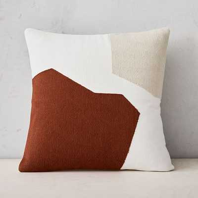 "Corded Minimalist Geo Pillow Cover, 20""x20"", Copper - West Elm"