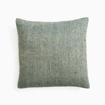 """Two Tone Chunky Linen Pillow Cover, 20""""x20"""", Silver Pine - West Elm"""