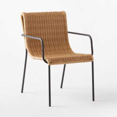 Rizo Loop Faux Rattan Dining Chair - CB2