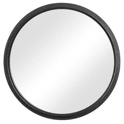 Textured Round Metal Mirror, Black - West Elm