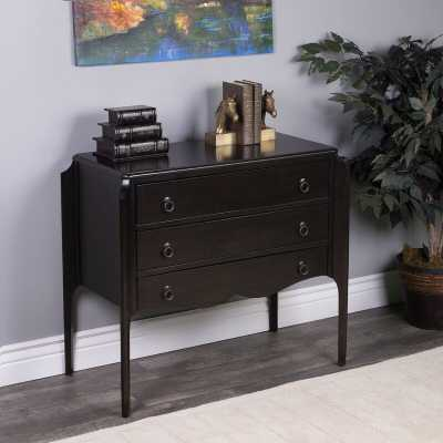 3 Drawer Accent Chest Color: Chocolate - Perigold