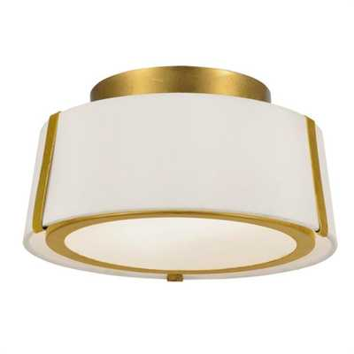 Crystorama Fulton 12 in 2-Light Gold Flush Mount - Home Depot