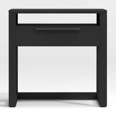 Linea Black Nightstand - Crate and Barrel