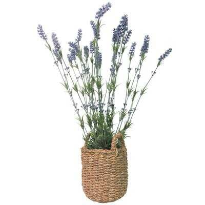 29'' Artificial Flowering Plant in Basket - Wayfair
