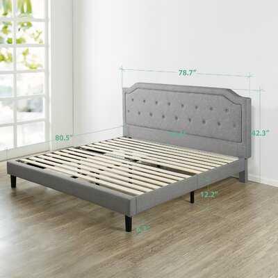 Scalloped Upholstered Platform Bed - Wayfair