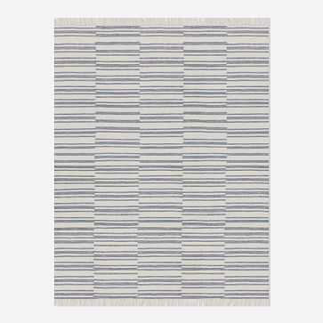 Stacked Stripes Rug, Platinum, 10'x14' - West Elm