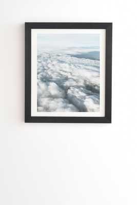 "The Clouds Below by Cassia Beck - Framed Wall Art Basic Black 19"" x 22.4"" - Wander Print Co."