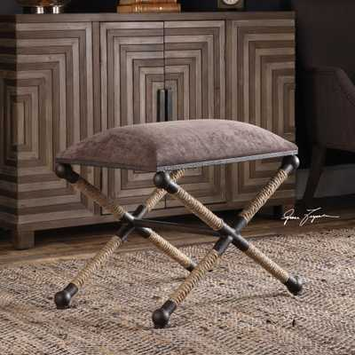 Evert Taupe Brown Accent Stool - Hudsonhill Foundry