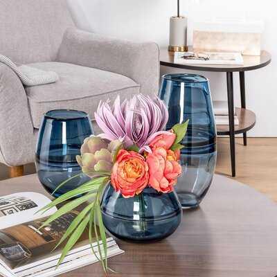 Proffitt Ring Glass Bullet Glass Table Vase - Wayfair