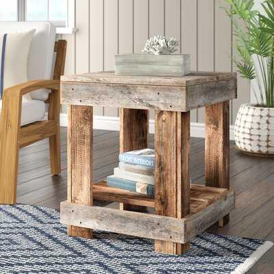 Sudbury Solid Wood End Table with Storage - Wayfair