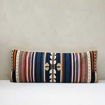 Woven Baja Pillow Cover, Midnight - West Elm