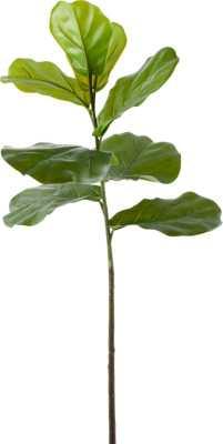 """Faux Fiddle Leaf Fig Stem 42.5"""" - CB2"""