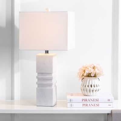 Faye Marble Table Lamp - White - Arlo Home - Arlo Home