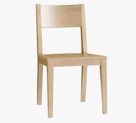Menlo Wood Dining Chair, Bone White - Pottery Barn