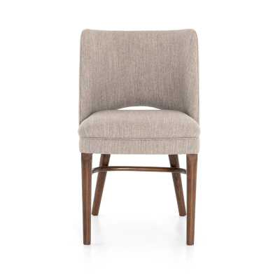 Four Hands Ashford Upholstered Solid Wood Side Chair in Savile Flannel - Perigold