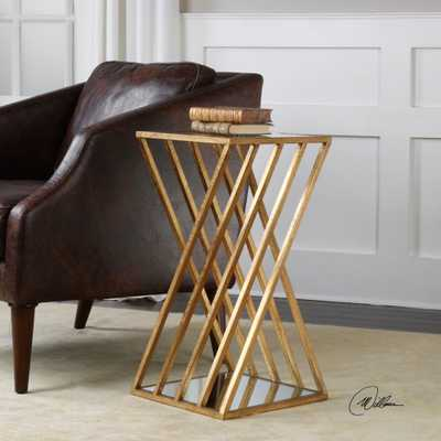 Janina Gold Dimensional Accent Table - Hudsonhill Foundry