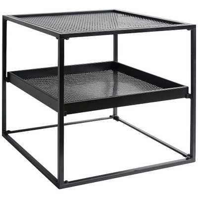 "Morganstern 20"" Wide Black 3-Shelf Square Side Table - Style # 89G83 - Lamps Plus"
