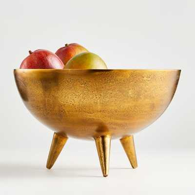 Picardy Brass Footed Bowl - Crate and Barrel